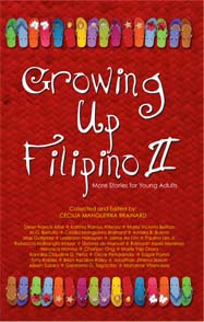 "Cover image of anthology ""Growing Up Filipino II"""